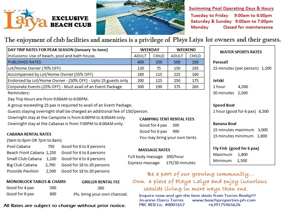 New Club Rates