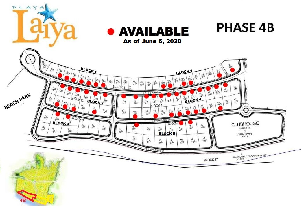 Phase 4B Sales Map (Pre-selling, Nearest beach)